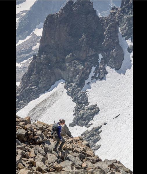 Descending SE glacier
