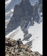 Rock Climbing Photo: Descending SE glacier