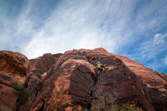 Rock Climbing Photo: Derek starting the first pitch of Physical Graffit...