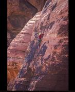 Rock Climbing Photo: Me leading pitch 2