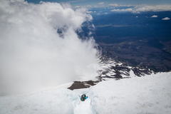 Rock Climbing Photo: Glissading down Mt Adams