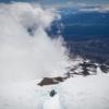 Glissading down Mt Adams
