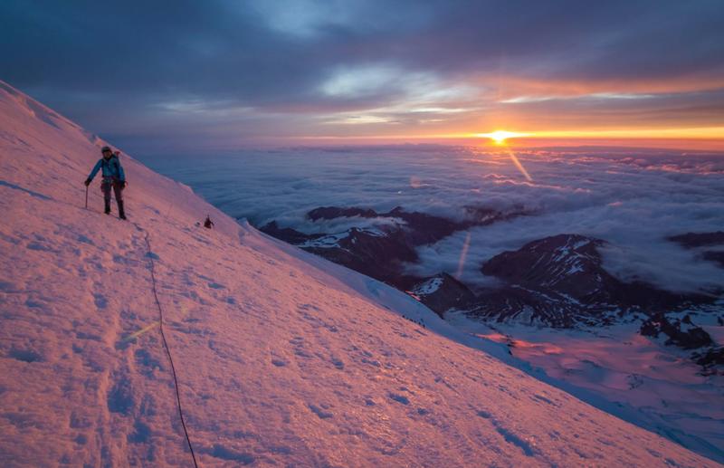 Rock Climbing Photo: Mt Rainier at sunrise
