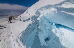 Rock Climbing Photo: Crevasses on Rainier