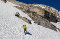 Rock Climbing Photo: Heading up Mammoth Peak of the Kuna area