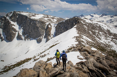 Rock Climbing Photo: Looking down from Mammoth Peak