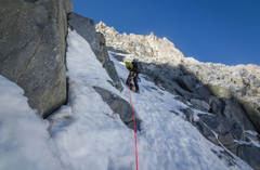 Rock Climbing Photo: Headed up the couloir