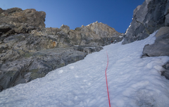 Rock Climbing Photo: looking up the couloir
