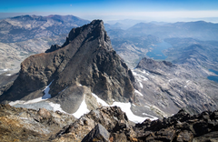 Rock Climbing Photo: The very interesting backside of Banner Peak (view...
