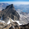 The very interesting backside of Banner Peak (viewed from the summit of Mt. Ritter)