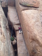 Rock Climbing Photo: Just below the mini-roof.