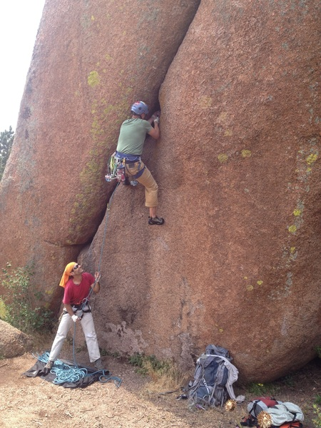 Rock Climbing Photo: Putting in a fight.