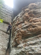 Rock Climbing Photo: Cassidy is working her way up the fun stem moves o...