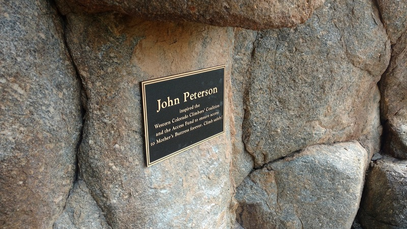 Rock Climbing Photo: New plaque in place in memory of John Peterson on ...