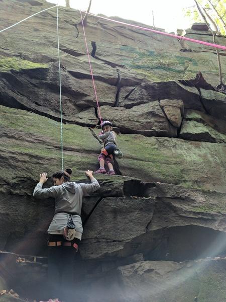Rock Climbing Photo: Even 4yr olds can climb!