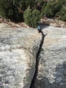Rock Climbing Photo: Leader on P2