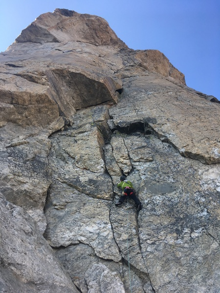 Rock Climbing Photo: Opening pitch of Emotional Rescue