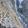 Following P5 of Emotional Rescue with the Enclosure Ice Couloir in the background