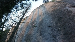 Rock Climbing Photo: Chalking up on Center Shinto