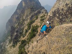 Rock Climbing Photo: Matt coming up the 2nd pitch
