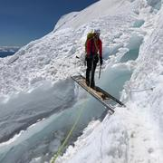 Rock Climbing Photo: While descending the DC route