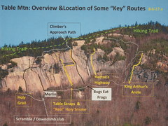 Rock Climbing Photo: Overview & Key Routes  8-6-17