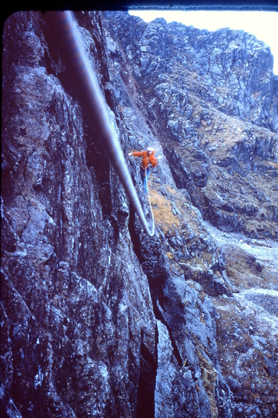 Rock Climbing Photo: Henry Barber following across the great flake  197...