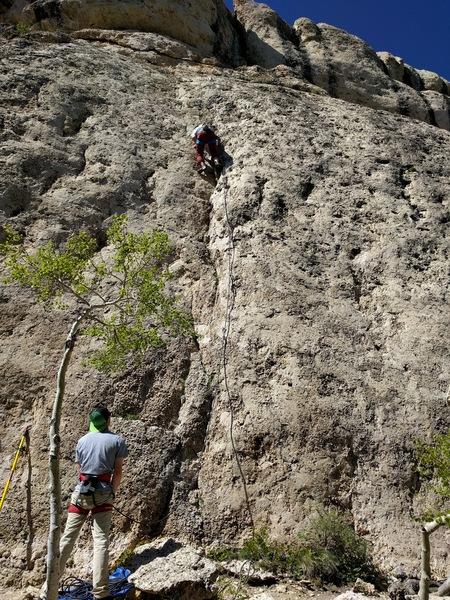Rock Climbing Photo: Dave on Dynamitic