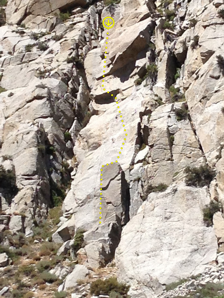 Rock Climbing Photo: From the approach.