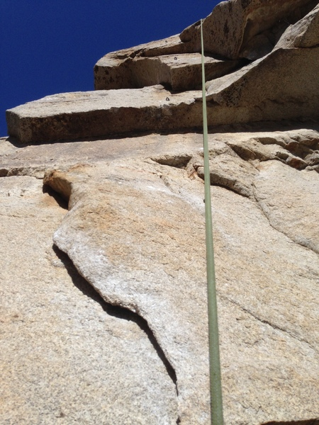 Rock Climbing Photo: Flake above roof leading to double dihedrals.