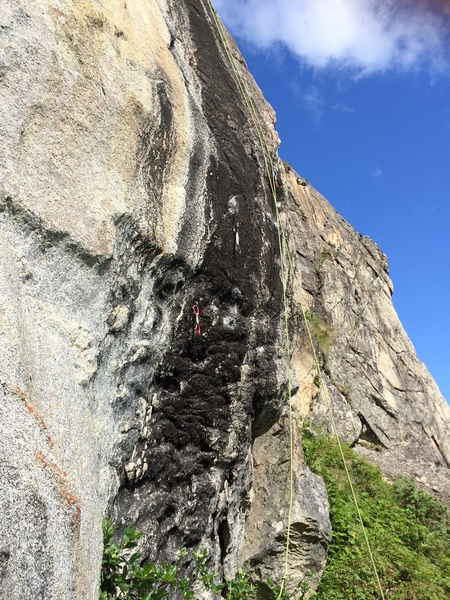 The Crux section of Broken Head.