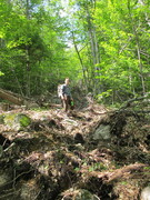 Rock Climbing Photo: A BIG boulder cut loose from the trail on the way ...