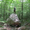Lee Hansche gets the FA. This boulder plowed a path through the woods for 200 yds. It started at the trail on the way to the Dark Side
