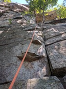 Rock Climbing Photo: I think the guide book called Double Chin a 5.4 wi...