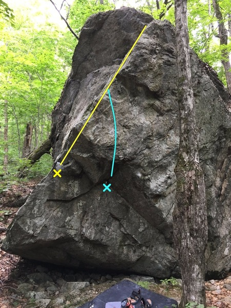 A fun arete with a great landing.