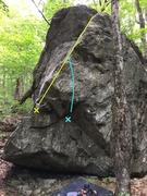 Rock Climbing Photo: A fun arete with a great landing.