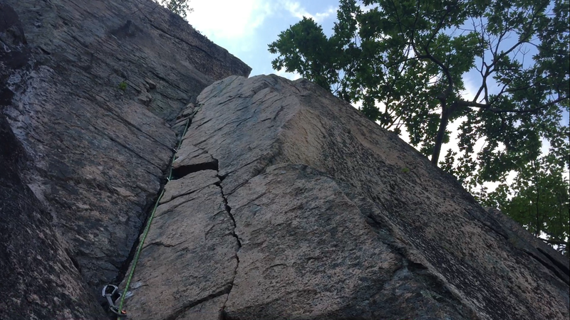 Rock Climbing Photo: 2nd pitch dihedral. So fun!