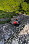 Rock Climbing Photo: Jalen getting into the upper crux moves during the...