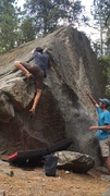 Rock Climbing Photo: The high foot mantle finish.