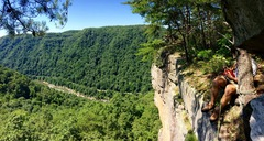 Rock Climbing Photo: View from the top of Ritz Cracker.