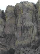 Rock Climbing Photo: X-Man is just left of center with the prominent X ...