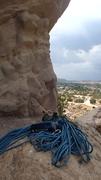 Rock Climbing Photo: Walking up to set top rope