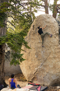Rock Climbing Photo: White Flight during magic hour, great problem!