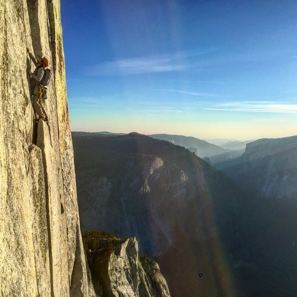 Rock Climbing Photo: Double Crack pitch, pure magic!