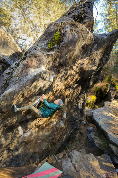 Rock Climbing Photo: Great problem that doesn't let off till the top!