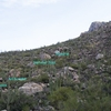 View of the boulders on the way in