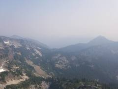 Rock Climbing Photo: Smoky view of Snow Lake from the fires in the Grea...