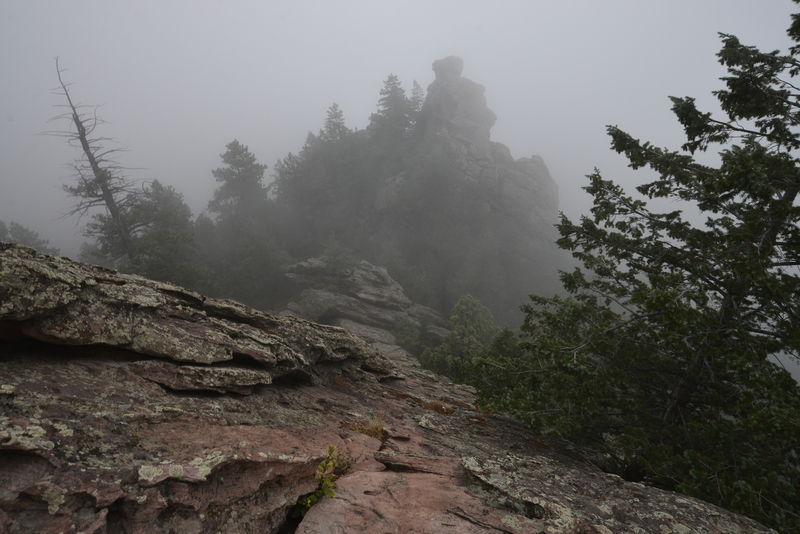Rock Climbing Photo: The Regency looming through the fog.