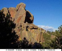 Rock Climbing Photo: Beta photo of Plumb Line lower tier originally pos...