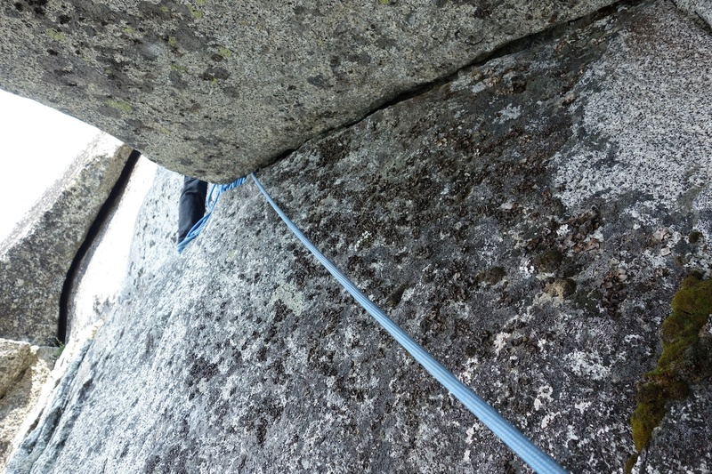 Roof at top of Pitch 5. You can get good hand jams along the top and there is a key knob for the foot out left.